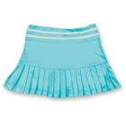 Little Miss Tennis Small Pleats Skort (Aqua/ White) - Girls's Tennis Apparel