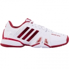 Adidas Barricade Novak Pro Men's Tennis Shoes (White/Red/Silver) - Adidas Barricade Tennis Shoes