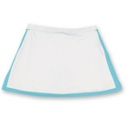 Little Miss Tennis Classic Skort (White/ Aqua) - Girls's Tennis Apparel