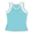 Little Miss Tennis V-Neck Tank (Aqua/ White) - Girls's Tennis Apparel