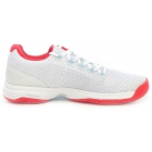 Adidas Women's Adizero Ubersonic 2 Tennis Shoe (White/Red/Grey) - Adidas adiZero