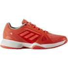 adidas Women's aSMC Barricade 2017 Tennis Shoe (Orange/White) - Promotions