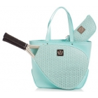 Court Couture Savanna Perforated Aquamarine - Tennis Tote Bags