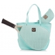 Court Couture Savanna Perforated Aquamarine - Designer Tennis Bags
