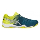 Asics Men's Gel Resolution 7 Tennis Shoes (Ink Blue/Sulphur Springs/White) - Asics Gel-Resolution Tennis Shoes