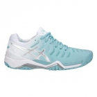 Asics Women's Gel Resolution 7 Tennis Shoes (Porcelain Blue/Silver/White) - Asics Gel-Resolution Tennis Shoes