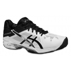 Asics Men's Gel Solution Speed 3 Clay Tennis Shoes (White/Black/Silver) - Asics Gel-Solution Speed Tennis Shoes