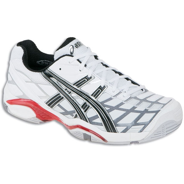 Asics Men's GEL-Challenger 8 Tennis Shoes (Wht/ Blk/ Sil)
