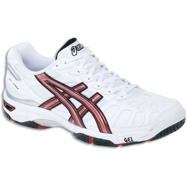 Asics Men's GEL-Game 3 Shoes (Wht/ Crs/ Blk)