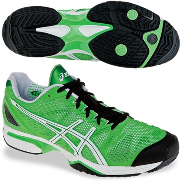 Asics Men's GEL-Solution Speed Tennis Shoes (Grn/ Wht/ Blk)