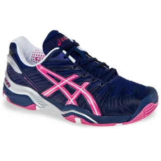 Asics Women's GEL-Resolution 4 Tennis Shoes (Black/ Pur/ Sil)