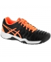 Asics Gel Resolution 7 Junior Tennis Shoes (Black/Orange/White) - Performance Tennis Shoes