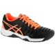 Asics Gel Resolution 7 Junior Tennis Shoes (Black/Orange/White) - Asics Tennis Shoes