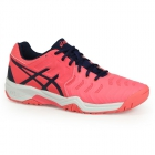 Asics Gel Resolution 7 Junior Tennis Shoes (Diva Pink/Indigo Blue/White) - Tennis For Kids