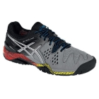 Asics Men's Gel Resolution 6 Shoes (Smoke/ Silver/ Black) - Asics