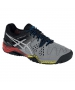 Asics Men's Gel Resolution 6 Shoes (Smoke/ Silver/ Black) - Asics Gel-Resolution Tennis Shoes