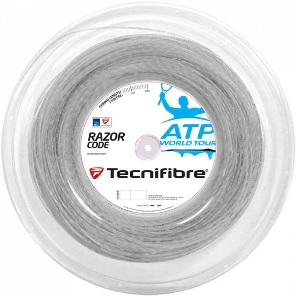 Tecnifibre ATP Razor Code Carbon 17g Tennis String (Reel)