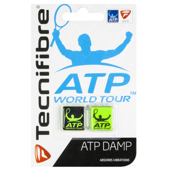 Tecnifibre ATP Dampener 2 Pack (Black/Yellow)