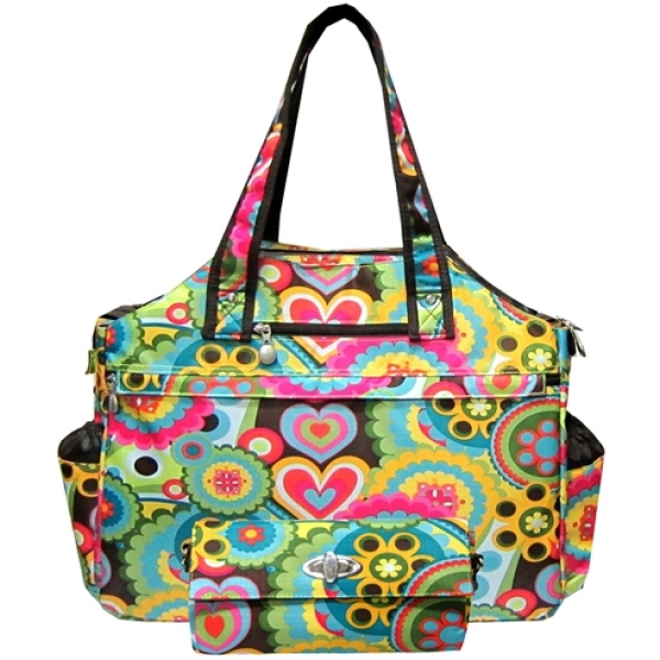 Jet Austin Flowers Tennis Tote Bag