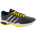 Adidas Men's Barricade Team 4 Tennis Shoes (Grey/ Silver/ Yellow) - Men's Tennis Shoes