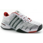 Adidas Men's Barricade V Classic Tennis Shoes (White/ Metallic/ Red) - Adidas Tennis Shoes