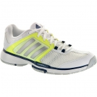 Adidas Women's Barricade Team 4 Tennis Shoes (White/ Neon Yellow/ Navy) - Tennis Shoes Sale