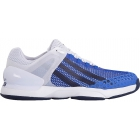 Adidas Men's adizero Ubersonic Tennis Shoes (White/ Navy/ Blue) - Adidas adiZero Tennis Shoes