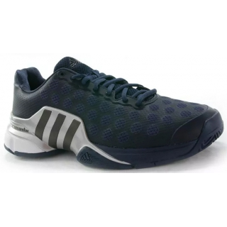 9a19ba41d61 Adidas Men s Barricade 2015 Tennis Shoes (Midnight Grey  Metalic  Silver)