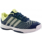 Adidas Barricade Team 4 xJ Tennis Shoes (Navy/ Metallic/ Frozen Yellow) - Tennis Shoes for Kids