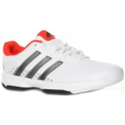 Adidas Barricade Team 4 xJ Tennis Shoes (White/ Metallic/ Red) - Adidas Tennis Shoes
