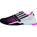 Adidas Men's CC adiZero Feather III Tennis Shoes (White/ Black/ Solar Pink)