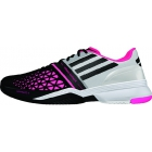 Adidas Men's CC adiZero Feather III Tennis Shoes (White/ Black/ Solar Pink) - Adidas adiZero Tennis Shoes