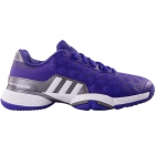 Adidas Junior Barricade 2015 Tennis Shoes (Purple/ White/ Silver) - Tennis Shoes for Kids