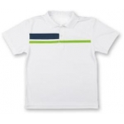LMT Classic Polo (White/ Green/ Navy) - LMT Tennis Apparel