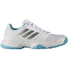 Adidas Barricade Club xJ Junior Tennis Shoe (White/Silver/Light Blue) - Adidas Junior Tennis Shoes