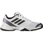 Adidas Barricade Club xJ Junior Tennis Shoe (White/Metallic/Black) - Adidas Junior Tennis Shoes