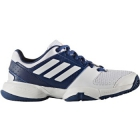 Adidas Barricade Club xJ Junior Tennis Shoe (Mystic Blue/White/Glow Orange) - Tennis Shoes for Kids