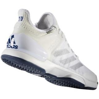 Adidas Men s Adizero Ubersonic 2 Tennis Shoe (White Silver Mystery Blue) b5f773c68