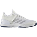 Adidas Men's Adizero Ubersonic 2 Tennis Shoe (White/Silver/Mystery Blue) - Men's Tennis Shoes
