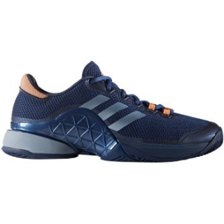 Adidas Men's Barricade 2017 Tennis Shoe (Mystic Blue/Glow Orange)