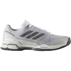 Adidas Men's Barricade Club Tennis Shoe (Metallic/White/Black) - Adidas Barricade Tennis Shoes