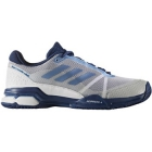 Adidas Men's Barricade Club Tennis Shoe (White/Tech Blue/Mystery Blue) - Adidas Barricade Tennis Shoes