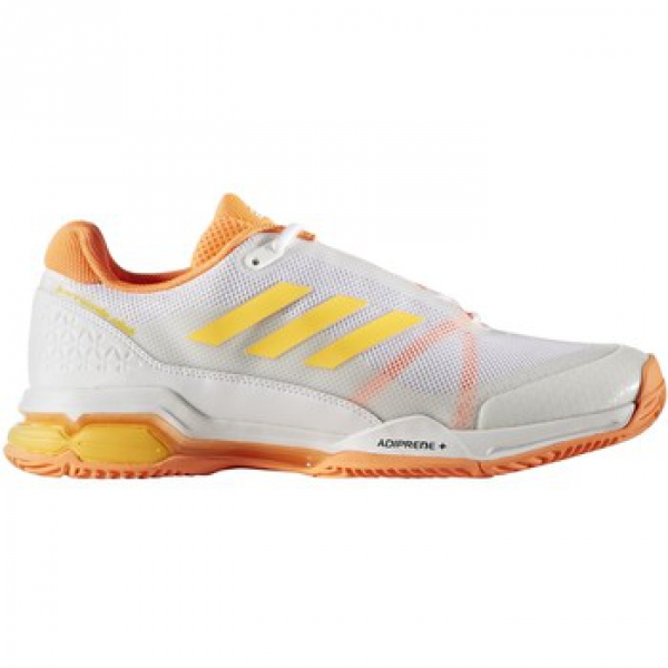 adidas s barricade club tennis shoe white gold orange
