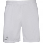 Babolat Boy's Compete w/Performance Polyester Tennis Short (White/White) - New Style Tennis Apparel