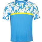 Babolat Boy's Compete Crew Neck Tennis Tee w/ Performance Polyester (Malibu Blue) - New Style Tennis Apparel
