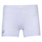 Babolat Girls Compete Tennis Shorty w/Moisture-Wicking Performance Polyester (White/White) - Girl's Tennis Apparel