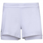 Babolat Girl's Exercise Tennis Shorts (White/White) - Girl's Tennis Apparel