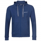 Babolat Boy's Exercise Hooded Tennis Training Jacket (Estate Blue/Heather) - New Style Tennis Apparel