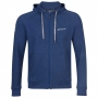Babolat Boy's Exercise Hooded Tennis Training Jacket (Estate Blue/Heather)