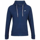 Babolat Women's Exercise Hooded Tennis Training Jacket (Estate Blue/Heather) - Women's Jackets